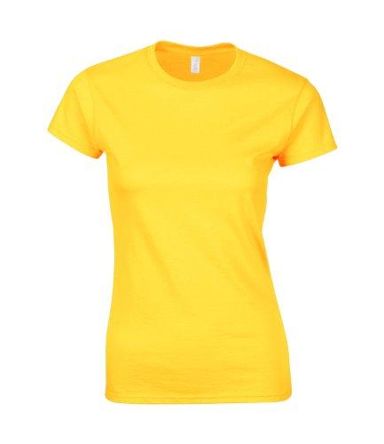 GILDAN - T-shirt -  Femme Gelb - Yellows