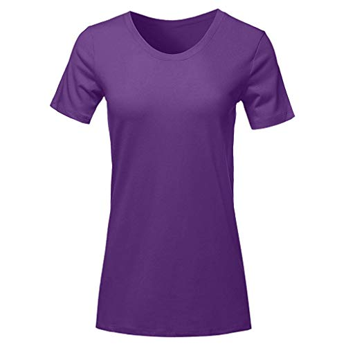 TWIFER Sommer Damen T Shirt Kurzarm Rundhals Tee Shirts Casual Tops Lose Top Bluse