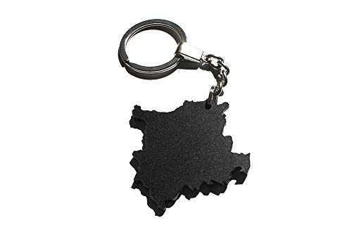 - Kosovo - Acrylic Keychain with Silver Zinc Metal Ring ()