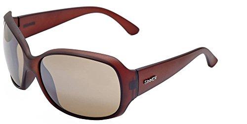 Sinner Erwachsene Sonnenbrille Amos Polycarbonat Bigsize Matt Braun