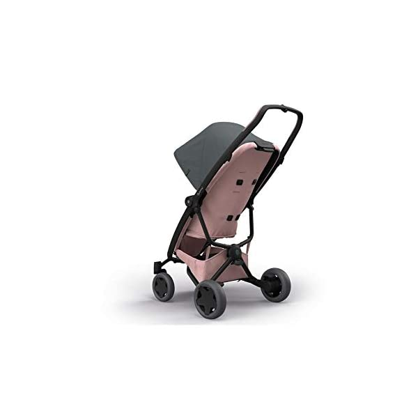 Quinny Zapp Flex Plus Urban Pushchair, Graphite on Blush Quinny Can be used from birth when combined with quinny from-birth cocoon or a maxi-cosi baby car seat (sold separately) This flexible pushchair features a two-way seat that fully reclines in both directions Closed push bar allows for easy one-hand pushing 7