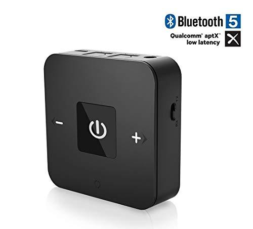 Friencity Bluetooth 4.1 Sender Empfänger mit AptX Low Latency 25 Stunden Spielzeit 2 in 1 Audio Adapter mit optischer TOSLINK 3,5 mm Aux für TV, PC, Auto / Home Stereo, Lautsprecher, Kopfhörer