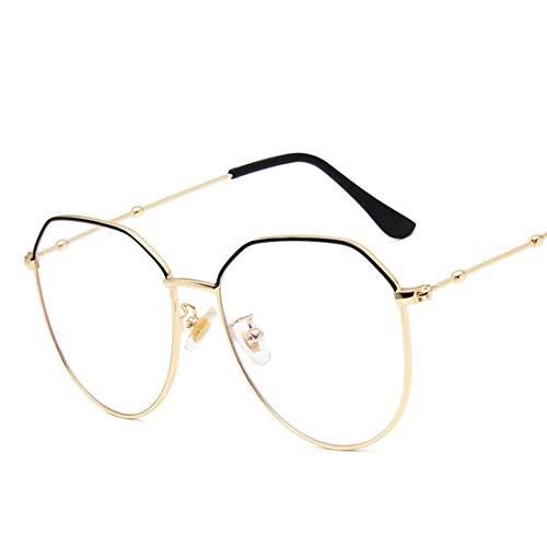 WAVENI Bicchieri poligonali retrò con Montatura Metallo Occhiali da Vista per Donna/Uomo