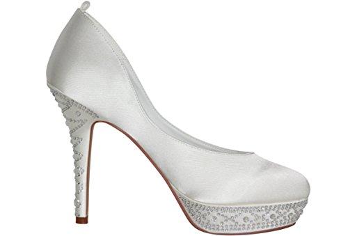 hochzeits-shop-hamburg  Brautschuhe Hochzeitsschuhe, chaussures compensées femme - Ivory