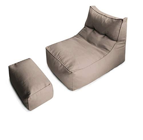 AEURX Gemütlich Sitzsack for Jugendliche Kleines Sofa Abnehmbar Und Waschbar (Color : Light Coffee, Size : Including footstools)