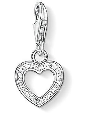 Thomas Sabo Damen-Charm-Anhänger Herz Charm Club 925 Sterling Silber Zirkonia weiß 0930-051-14