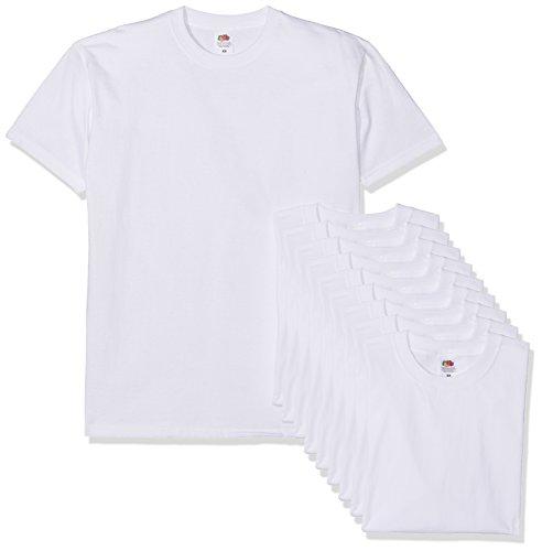 Fruit of the Loom Herren Super Premium Short Sleeve T-Shirt, Weiß (White 30), M (10er Pack)