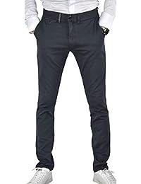 1stAmerican Pantalon pour Hommes Chino 100% Coton Twill Stretch - Regular  fit Couleur Unie 828b50aeeab