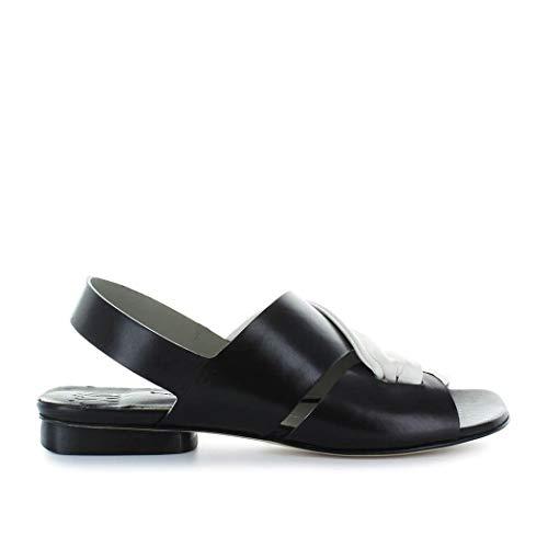 IXOS Damen X18e30116013 Schwarz Leder Sandalen