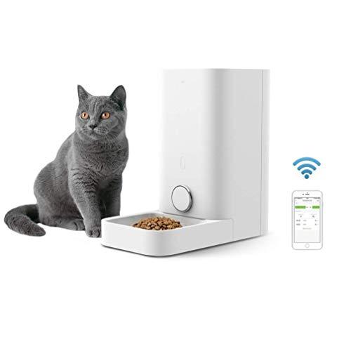 UNIIKE Automatique Autopetfeeder pour Chats à Puce Pet Food Feeder pour Les Chats et Doggy Wi-FI contrôle Cat Feeder Distributeur Android App iOS Cat Feeder minuterie programmable