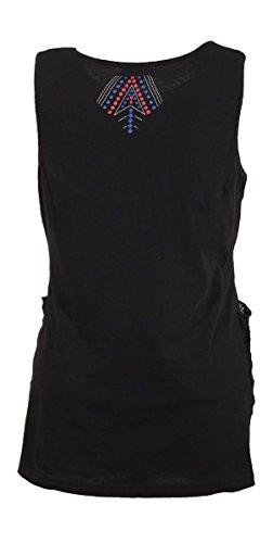 Coline - Tee shirt ethnique imprimé Noir