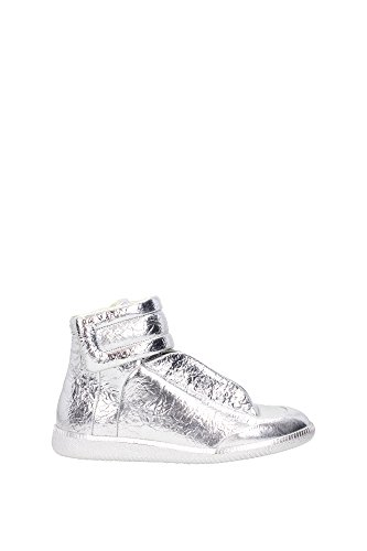 S37WS0262SX9809905 Martin Margiela Sneakers Homme Cuir Argent Argent