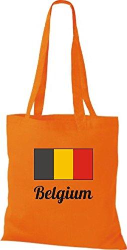 Camicia In Tessuto Borsa In Cotone Borsa Country Juta Belgio Belgio Colore Rosa Arancione