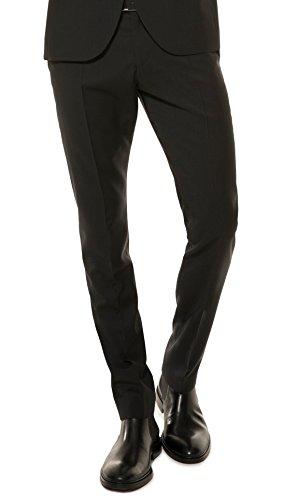 Herren Slim Fit Baukasten Anzughose aus reiner Schurwolle, Marke: Lanificio Tessile d'Oro, Lux (CMP-9999-6730), Größe:48;Farbe:Anthrazit