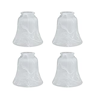 Aspen Creative 23030-4 Transitional Style Replacement Bell Shaped Glass Shade (4 Pack), 4 3/4