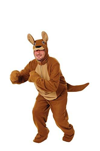 Känguru Kostüm offen Einheitsgrösse XXL Fasching Karneval