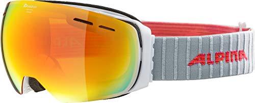 Alpina Erwachsene Granby MM Skibrille, white, One Size