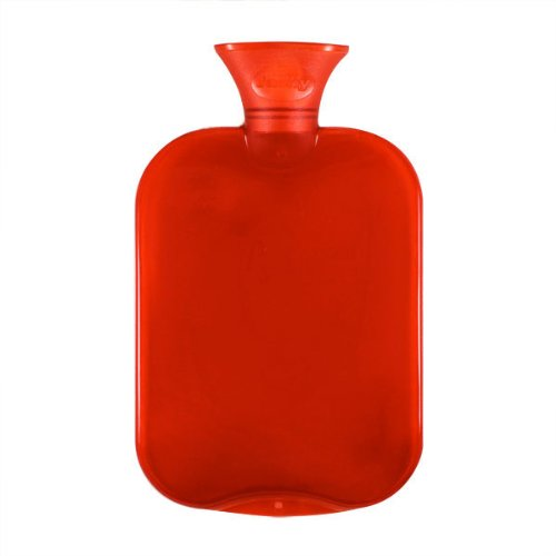 Fashy 6443 - Bolsa de agua caliente transparente, 2 L, varios colores