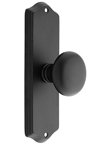 Providence Dummy (Colonial Revival Door Set With Providence Knobs Double Dummy In Matte Black. Antique Hardware Knobs. by Emtek)