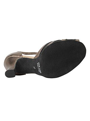 9295 Rumpf Damen Tanzschuhe Latein Salsa Rumba Tango Ballroom Schuhe Material Leder, Chromledersohle Absatz 7 cm, Made in Italy Bronze