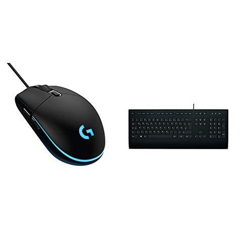 Logitech G203 kabelgebundene Gaming Maus (Optische 8.000 dpi, mit 16,8 Mio-Farb-LED-Anpassung) & K280e Tastatur (Kabelgebunden, Business-Tastatur, QWERTZ, Deutsche Layout) schwarz