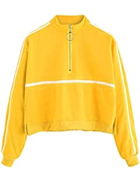 TWIFER Mode Damen Langarmshirt Sweatshirt Jumper 2018 Pullover Trägerlosen  Sweater 9352254015