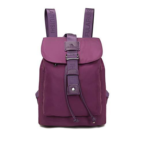 Mode wasserdichte Rucksack Studententasche Outdoor-Reiserucksack lila (Lila Rucksack Von Under Armour)
