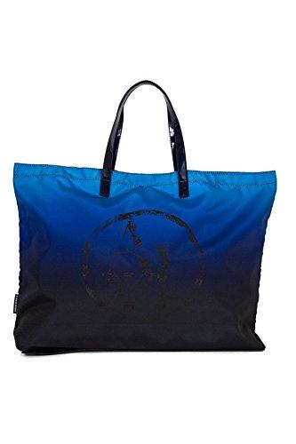 Grand sac shopping pliant ARMANI JEANS bleu