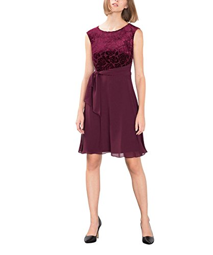 ESPRIT Collection Damen Kleid 106EO1E015, Rot (Bordeaux Red 600), 40 (Herstellergröße: L)