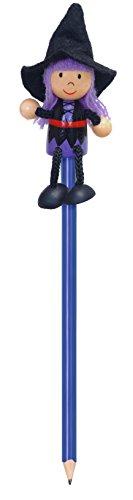 Preisvergleich Produktbild Fiesta Crafts FIESTA P5005 -Bleistift mit Spielfigur Hexe, blau/schwarz