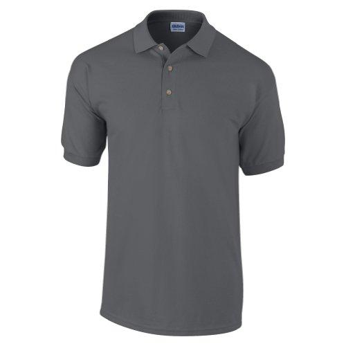 Gildan Ultra Herren Piqué Polo-Shirt, Kurzarm XL,Dunkelgrau Meliert (Pique Climacool Polo-shirts)
