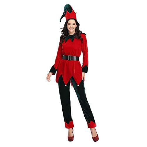 Luotuo Weihnachten Schlafanzug Familien Pyjama Set Weihnachtsbaum Gedruckt Nachtwäsche Homewear Zweiteiliger Langarmshirt und Pyjamahose Damen Herren Kinder Bekleidung