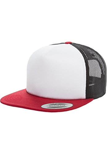 Foam Trucker with White Front red/wht/blk one size