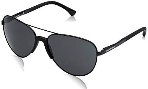 Emporio Armani Herren 0EA2059 320387 61 Sonnenbrille, Schwarz (Matte Black/Grey),