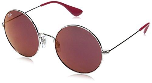 Ray-Ban Damen Sonnenbrille Rb 3592 Silver/Darkvioletmirrorred 55