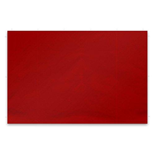 Nexos GM36242 2 Stück Seitenwände Seitenteile Ersatzwände Ohne Fenster für Falt-Pavillon - 295 x 215 cm/PE 180 g/m² - Hochwertig - Farbe: Rot,