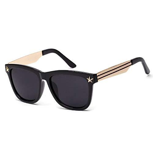 Chudanba Übergroße Sonnenbrille Frauen Markendesigner Star Big Frames Sonnenbrille Männer Sunglases Hipster Shades oculos,1 (Hipster-sunglases)