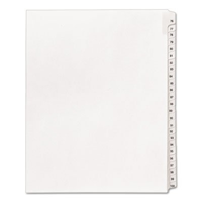 allstate-style-legal-side-tab-dividers-25-tab-76-100-letter-white-25-set-by-avery