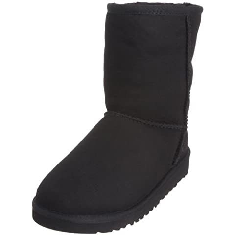 UGG Classic Short 5251, Unisex - Kinder Boots, Schwarz (BLACK), EU 36 (US 6)