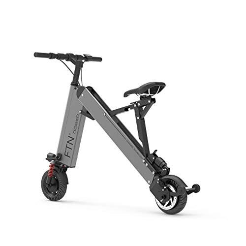 MKSport 8 Zoll Elektrofahrrad für Erwachsene 36V 7.5AH 350W E-Bike mit 20-35KM Haltbarkeit und Höchstgeschwindigkeit 20km / h,Grau,25/30KM