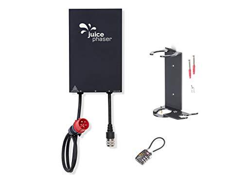 Juice Phaser Set - Elektroauto Ladegerät 5,8kW, 1-Phasig, 25A, CEE16, IP65, Wall Box (Für Juice Booster 2) inkl. Wandhalterung & Sicherheitsschloss,