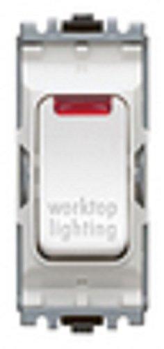 MK Electric Edge Schalter für Arbeitsflächenbeleuchtung, 20 A, DP, 1-Wege-Druckschalter, Neonfarben - Honeywell Schalter
