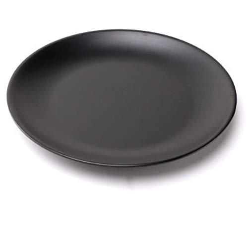 Nachahmung Porzellan Melamin Geschirr Schwarze Scheibe Kunststoff Matte Knochen Platte Flache Platte Restaurant Gericht Licht Gericht 7 Zoll