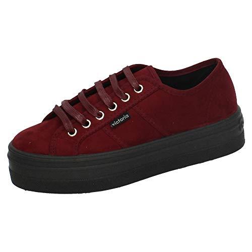 Victoria Blucher Antelina, Zapatillas para Niñas, Rojo Burdeos 41, 35 EU