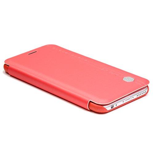 Original UrCover® Nillkin Rain Series Flip Tasche für das Apple iPhone 6 Plus / 6S Plus ( 5.5 Zoll) Luxus Schutzhülle Zubehör Hülle Schale Displayfolie Schwarz Rot