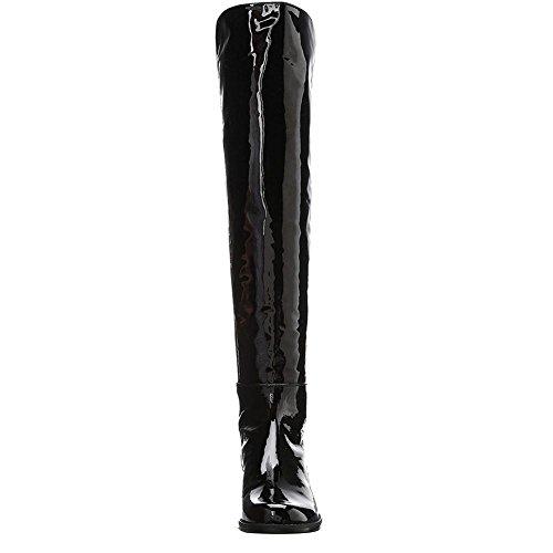 Al Incl Alti Donna Di Tacco Occidentali Comfort Pelle Alto Moda Tagliente Nero L Autunno Tacchi Ginocchio Stivali Invernale wZtFqF