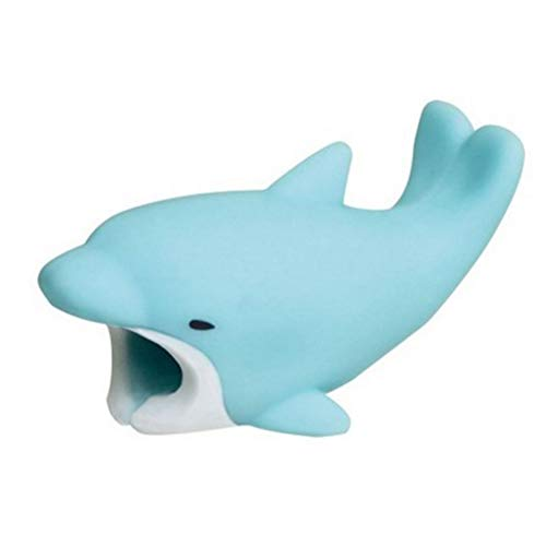 EDTara 3D Cartoon Animal Cable Protector Bite for Cable Line Dolphin
