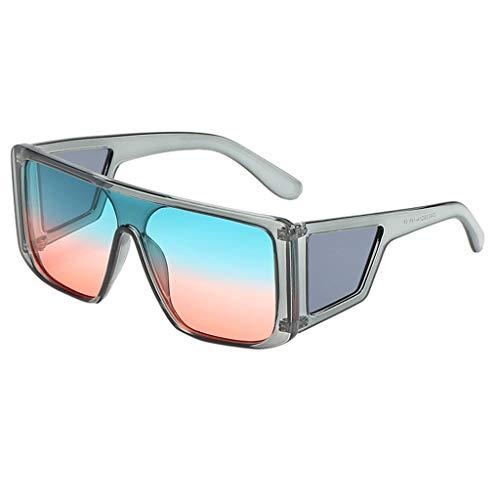 SCEMARK Mode Mann Frauen unregelmäßige Form Sonnenbrille Brille Vintage Retro Style -
