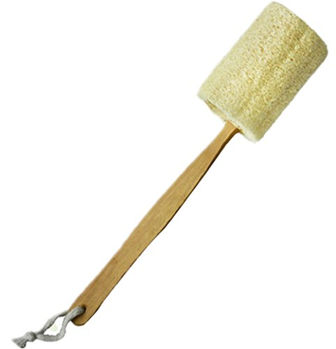 Qinlee Badebürste Multifuctional Bürste Holzgriff Natürliche Luffa Ein Bad nehmen Bürsten Sie den Körper Loofah Pinsel Körperreinigungsbürste Zufällige Farbe