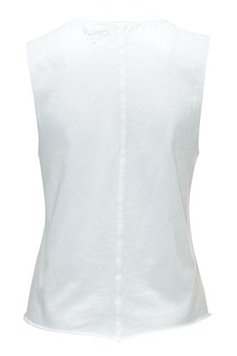 Only Débardeur femme Tank Top T-Shirt Shirt Haut sans manches Bright White/Necklace